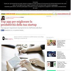 Top app per migliorare la produttività della tua startup
