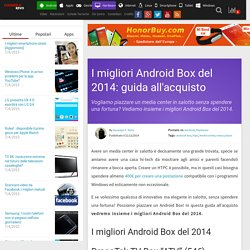 I migliori Android Box del 2014: guida all'acquisto