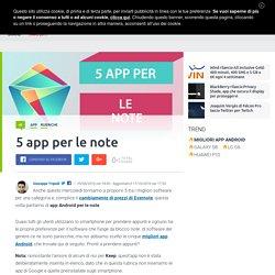 Migliori App Android Note
