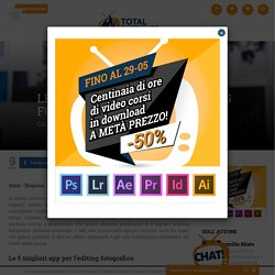Le 5 migliori app per l'editing fotografico ⋆ Total Photoshop