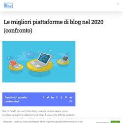 Le migliori piattaforme di blog nel 2020 (confronto)