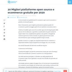 20 Migliori piattaforme open source e ecommerce gratuite per 2020