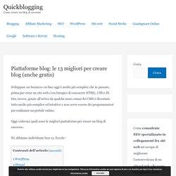 Le 13 migliori piattaforme per siti web e blog (Guida 2020)