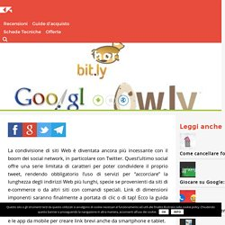 Creare link brevi: i migliori servizi (Shortener URL)
