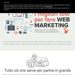 I migliori strumenti per fare Web Marketing