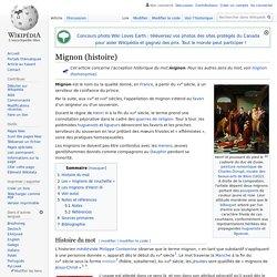 Mignon (histoire)