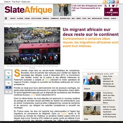 Un migrant africain sur deux reste sur le continent