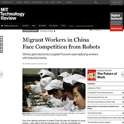 Migrant Workers in China Face Competition from Robots