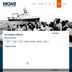 MOAS – Migrant Offshore Aid Station – DONATE