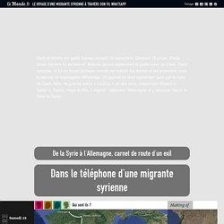 Le voyage d'une migrante syrienne à travers son fil WhatsApp