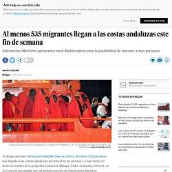 Al menos 535 migrantes llegan a las costas andaluzas este fin de semana