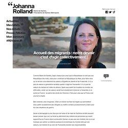 Accueil des migrants: notre devoir c'est d'agir collectivement! – Johanna Rolland
