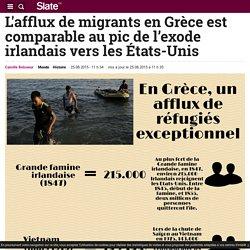 L'afflux de migrants en Grèce est comparable au pic de l'exode irlandais vers les États-Unis