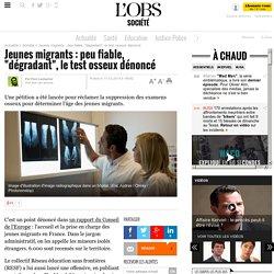 """Jeunes migrants : peu fiable, """"dégradant"""", le test osseux dénoncé- 17 février 2015"""