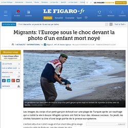 Migrants: l'Europe sous le choc devant la photo d'un enfant mort noyé