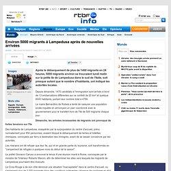Environ 5000 migrants à Lampedusa après de nouvelles arrivées