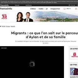 Migrants : ce que l'on sait sur le parcours d'Aylan et de sa famille