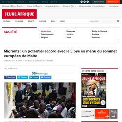 Migrants : un potentiel accord avec la Libye au menu du sommet européen de Malte