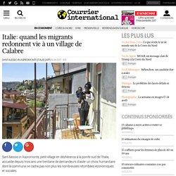 Italie: quand les migrants redonnent vie à un village de Calabre