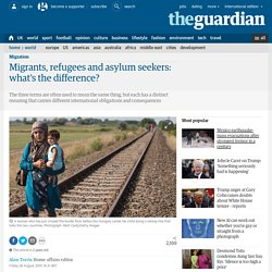 Migrants, refugees and asylum seekers: what's the difference?