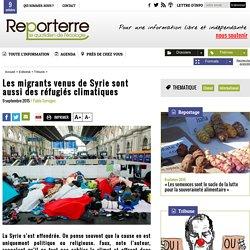 Les migrants venus de Syrie sont aussi des réfugiés climatiques