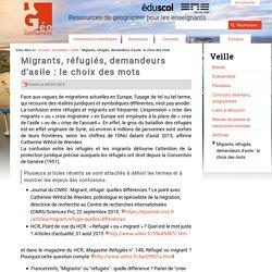 Migrants, réfugiés, demandeurs d'asile : le choix des mots