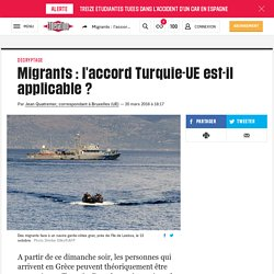 (3) Migrants : l'accord Turquie-UE est-il applicable ?