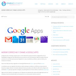 Migrar correo MX y CNAME a Google Apps
