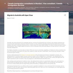 Migrate to Australia with Apex Visas