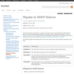 Migrate to DHCP Failover