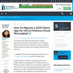 Migrate GCM Client App for iOS to FCM