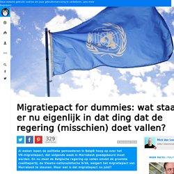 Migratiepact for dummies: wat staat er nu eigenlijk in dat ding dat de regering (misschien) doet vallen?