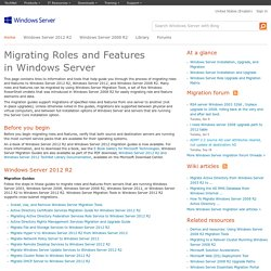 Migrating Roles and Features in Windows Server