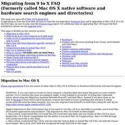 Migrating from 9 to X FAQ