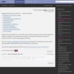 Comment migrer de PHP 5.6 à PHP7