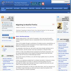 Review: Migrating to Mozilla FireFox