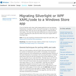 Porting Silverlight or WPF XAML/code to a Windows Store app