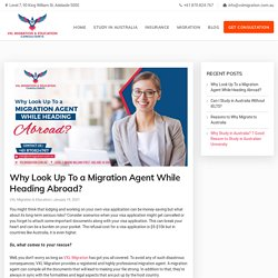 Why Look Up To a Migration Agent While Heading Abroad?