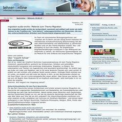 Material zum Thema Migration (Lehrer Online)
