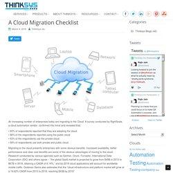 A Cloud Migration Checklist