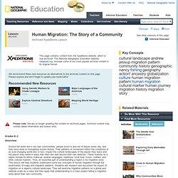 Human Migration: The Story of a Community