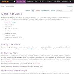 Migration de Moodle