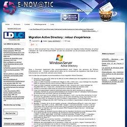 Migration Active Directory : retour d'expérience