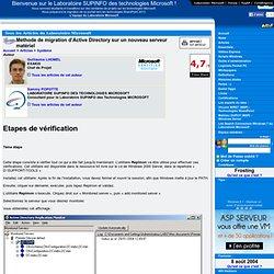 Méthode de migration d'Active Directory sur un nouveau serveur matériel