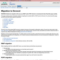 Migration - Dovecot Wiki