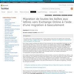 Migration de toutes les boîtes aux lettres vers ExchangeOnline à l'aide d'une migration à basculement: Exchange Online Help