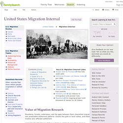 FamilySearch: US Migration Internal