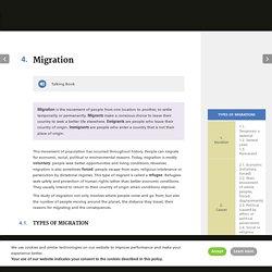 Migration - Geography & History 2 ESO DIGITAL Castilla-La Mancha