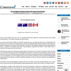 Visa-free Migration between Australia, New Zealand, UK and Canada