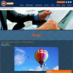 CDR Preparation services – Client Feedback